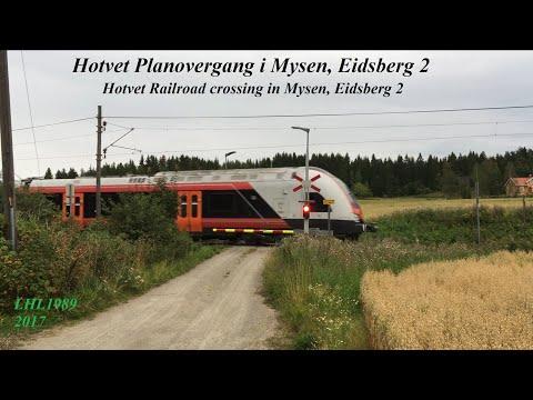 Hotvet Planovergang i Mysen, Eidsberg 2 / Hotvet Railroad crossing in Mysen, Eidsberg 2