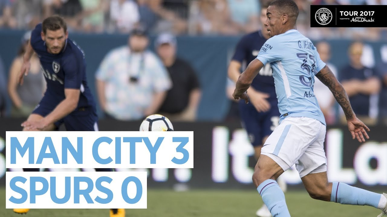 Goals Highlights Man City Vs Tottenham 3 0 29 July 2017 Youtube