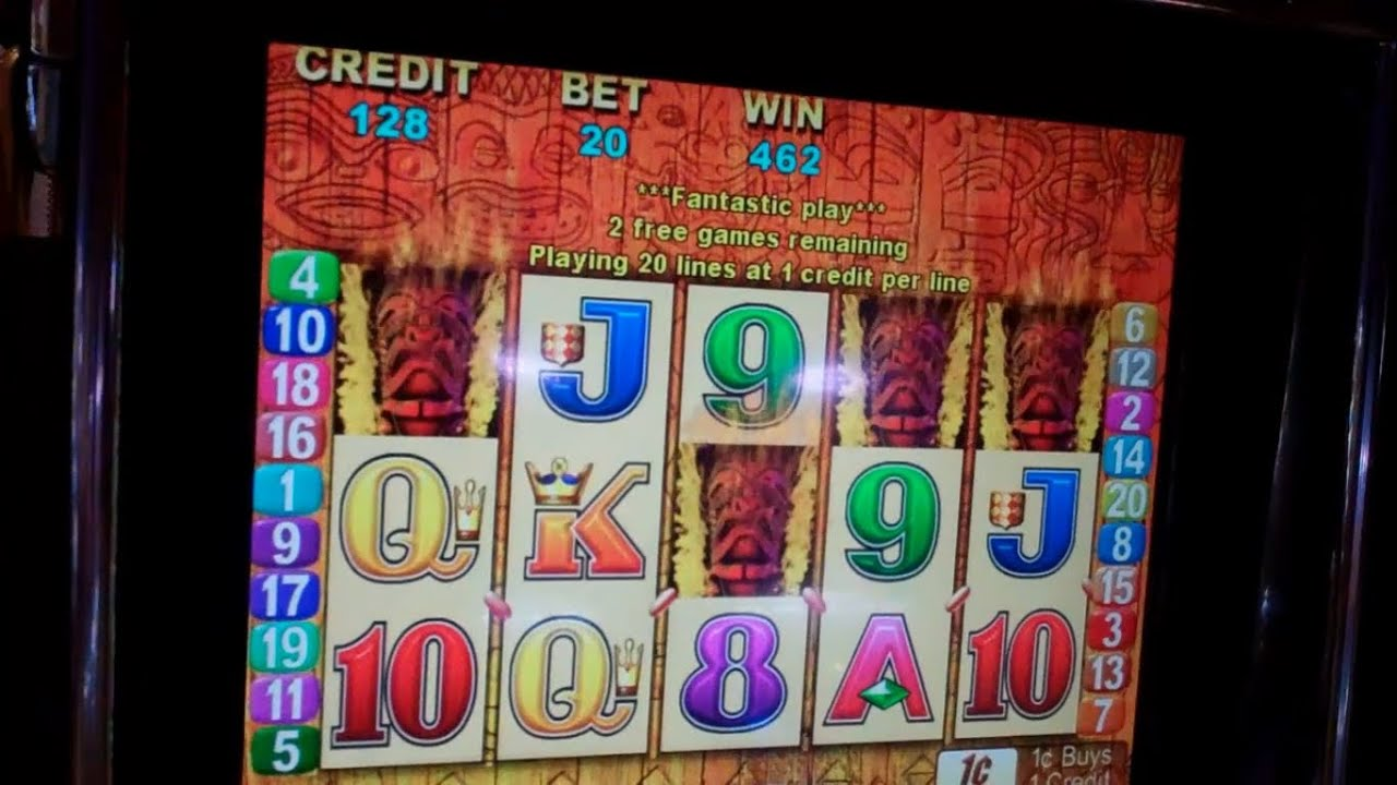 Tiki Torch Slot Machine Bonus Free Spins Win Youtube