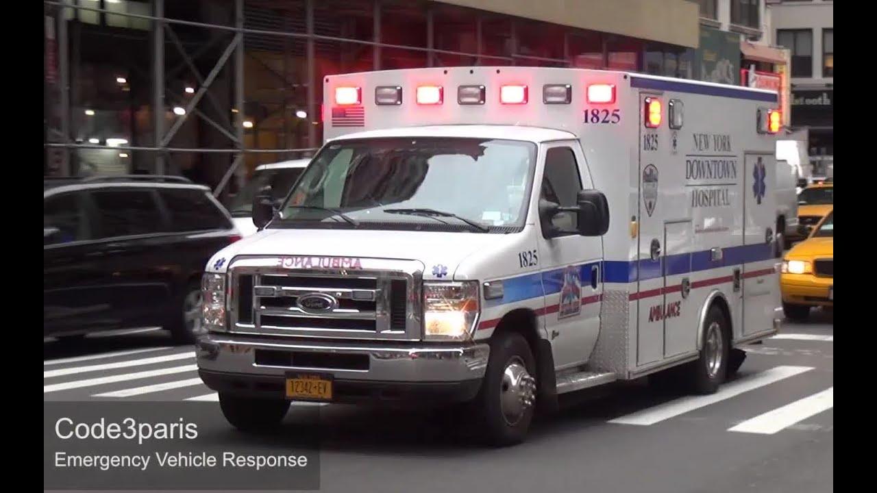 Emergency Ambulance New York Downtown Hospital Dual Sirens Youtube