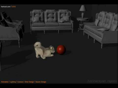 3D Puppy Chasing Ball