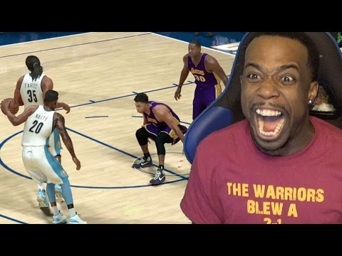CROSSED OVER D'ANGELO RUSSEL! MADE HIM TOUCH THE FLOOR! OVERTIME THRILLER! NBA 2k17