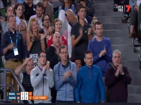 Rafael Nadal V's Milos Raonic ( 25/1/2017 ) TIE-BREAK