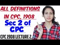 SECTION 2 OF CPC Explained in detail   CPC 1908 LECTURE 2,