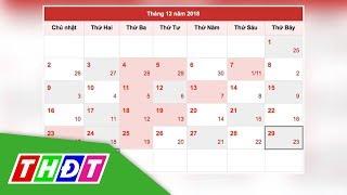 Chính thức công bố lịch nghỉ Lễ, Tết năm 2019   THDT