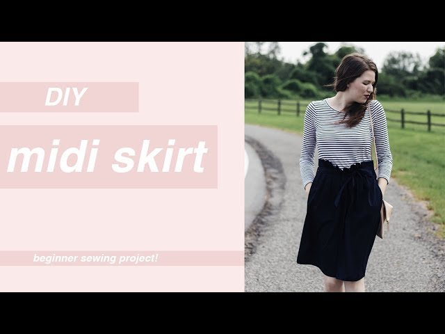 DIY Midi Skirt Tutorial: How to Make a Pleated Midi Skirt for Beginners | Chic Éthique