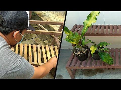 Membuat Rak Pot Bunga Sederhana Make A Stand Flower Youtube