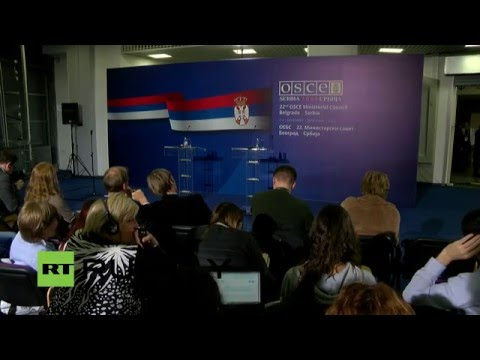 "LIVE: Press conference of the foreign ministers of the OSCE ""troika"""