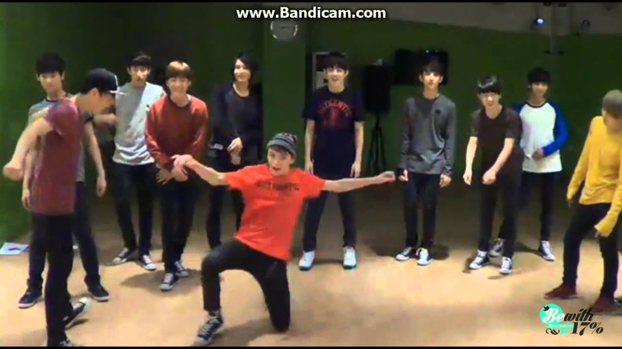 130927 SEVENTEEN dance battle 'Teach Me How To Dougie