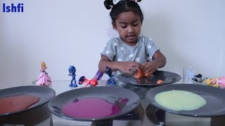 Funny Toddler Ishfi Learn Colors with Slime | Learn Through Play