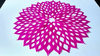 FLOWER DESIGN BY COLOR PAPER | PAPER CUTTING ART | PAPER CRAFT | RAINBOW ART |