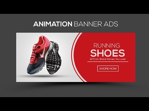 How To Make Web Banner Design In Photoshop Tutorial | GIF Animation Banner Ads