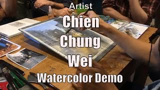 Chien Chung Wei Watercolor Lesson (a part of EPC Art Courses) 簡忠威水彩畫示範