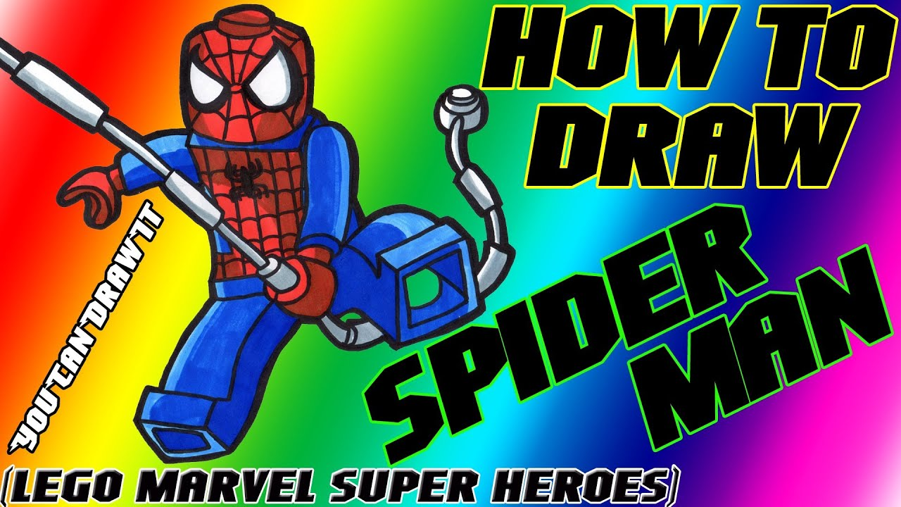 Download How To Draw Spider-Man from Lego Marvel Super Heroes ✎ YouCanDrawIt ツ 1080p HD