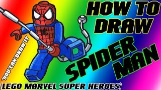 How To Draw Spider-Man from Lego Marvel Super Heroes ✎ YouCanDrawIt ツ 1080p HD