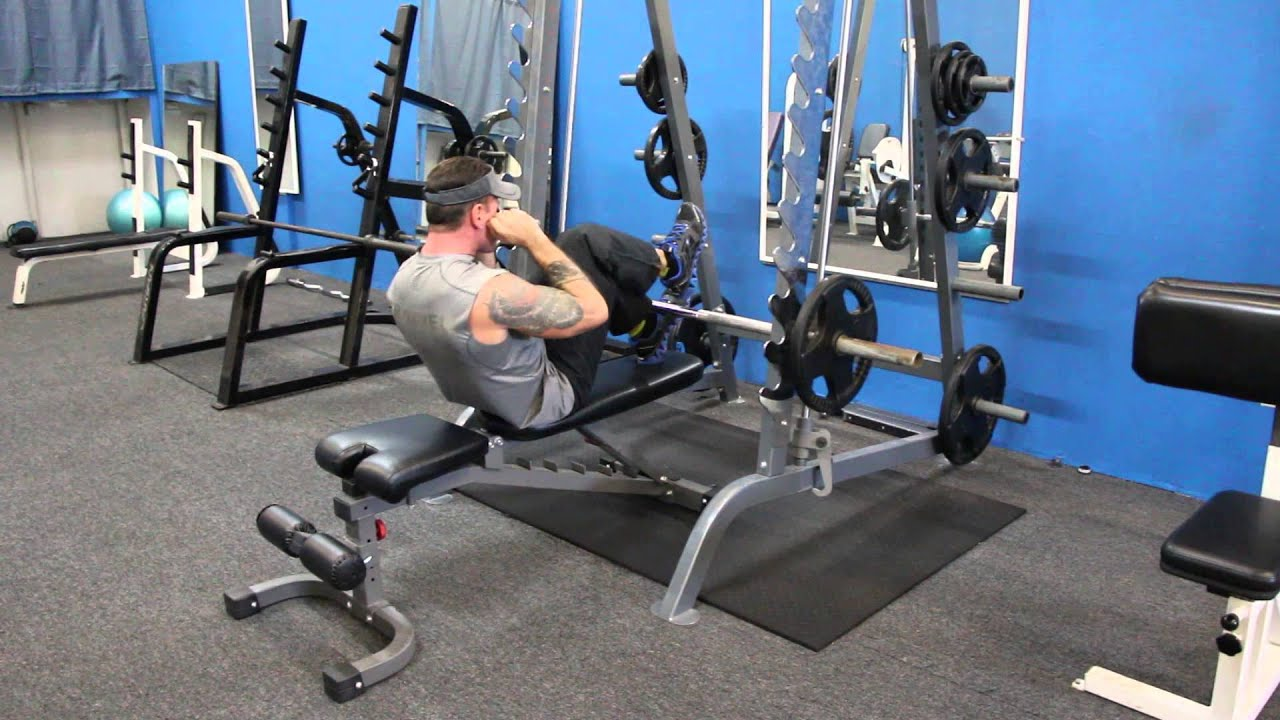 Extreme Ab Single Leg Smith Machine Crunch Fitworks
