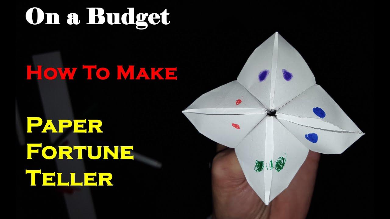 On a budget make paper fortune teller quack quack youtube on a budget make paper fortune teller quack quack jeuxipadfo Gallery