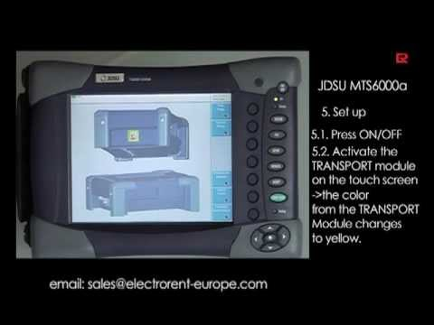 How to video: JDSU MTS6000A Ethernet LAN | Electro Rent Europe