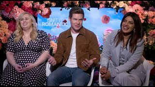 Priyanka Chopra, Rebel Wilson, Adam Devine interview for ISN'T IT ROMANTIC, Nick Jonas