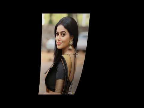 Actress Poorna @ Shamna Kasim Hot In Black Saree, Side And Back View