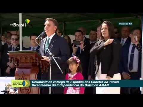 Presidente Jair Bolsonaro participou de Cerimônia de Entrega de Espadim aos Cadetes da AMAN