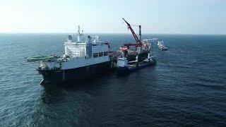 """Глава """"Газпрома"""" А.Миллер: строительство газопровода """"Северный поток - 2"""" завершено на три четверти."""
