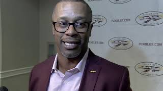 Florida State head football coach Willie Taggart at Panama City booster stop