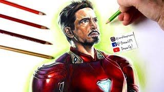 Vengadores: Infinity War - Dibujo de Iron Man mark 48 (explicado) | Robert Downey Jr. | Marvel