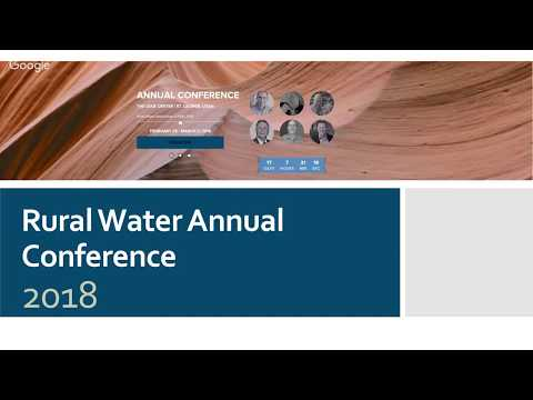 February 2018 Webinar - Prepare now for the Rural Water Conference