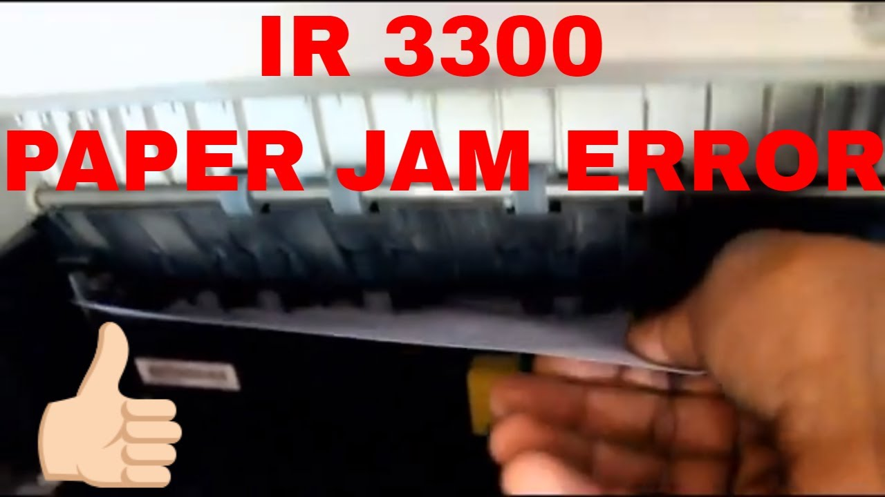 Canon IR 3300 Xerox Machine Paper Jam Error Quick Solutino | In Hindi