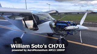 CH701 AM13 100HP AeroMomentum Aircraft Engine First Flight