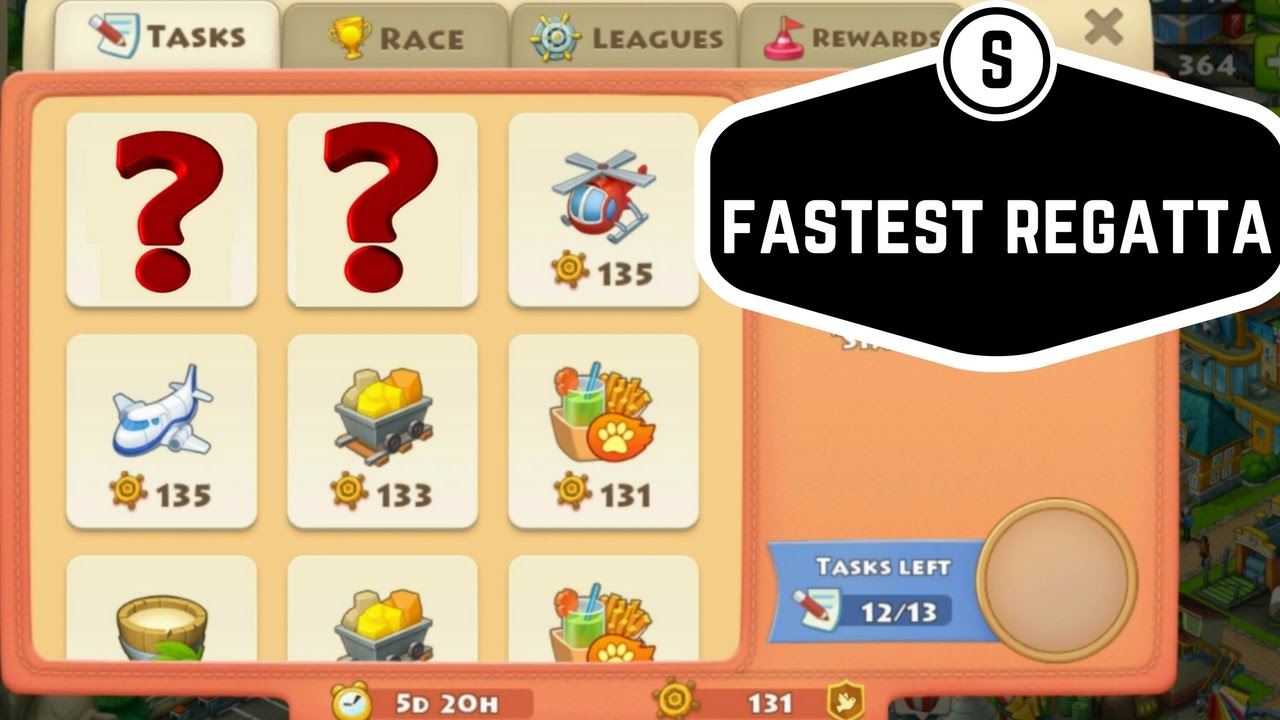 TOWNSHIP GAME FASTEST REGATTA MISSION