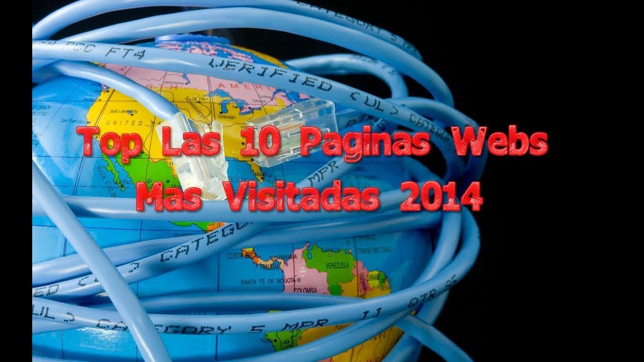 Las 10 paginas web mas visitadas en 2014 doovi - Webs de cocina mas visitadas ...