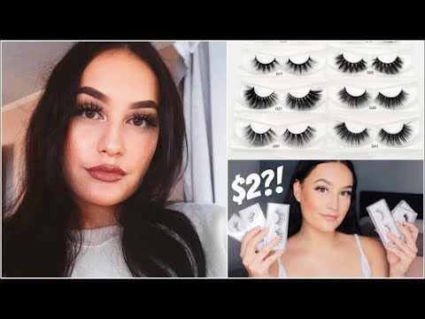 e5b00ea8f32 $2 FAUX MINK LASHES TRY ON AND REVIEW! - YouTube