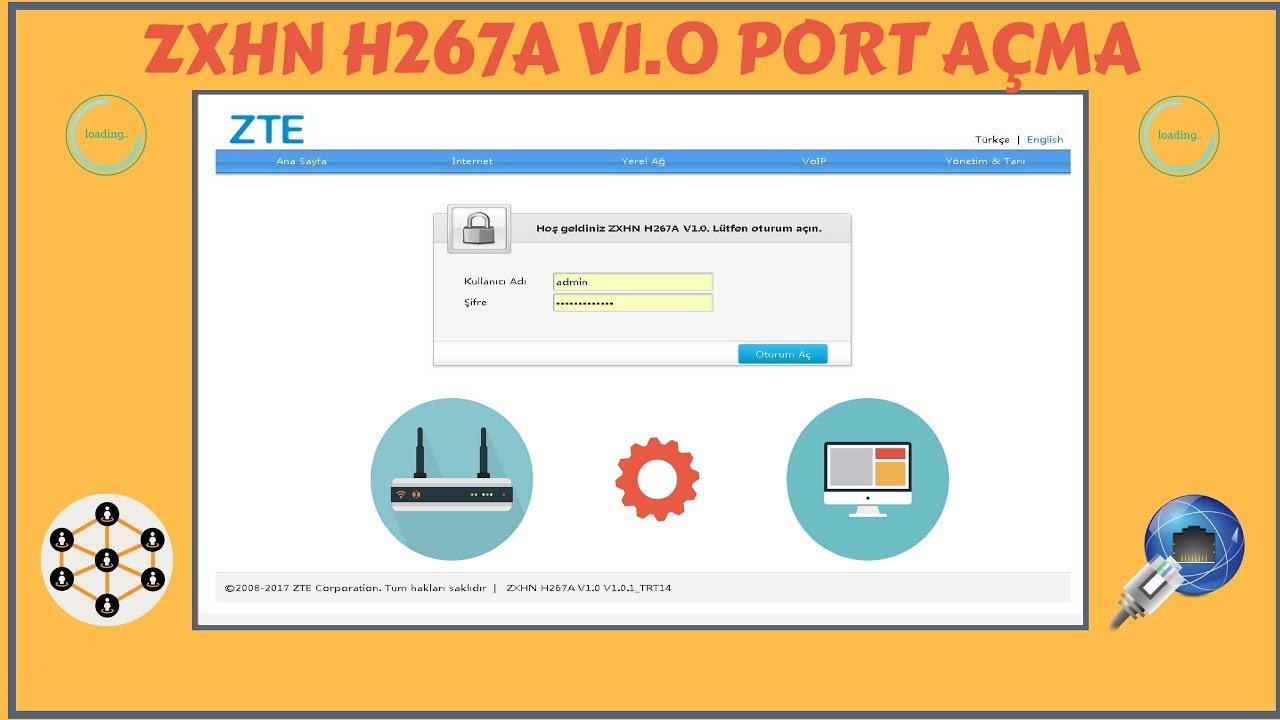 Modemde Port Açma | ZXHN H267A V1 0 |2018