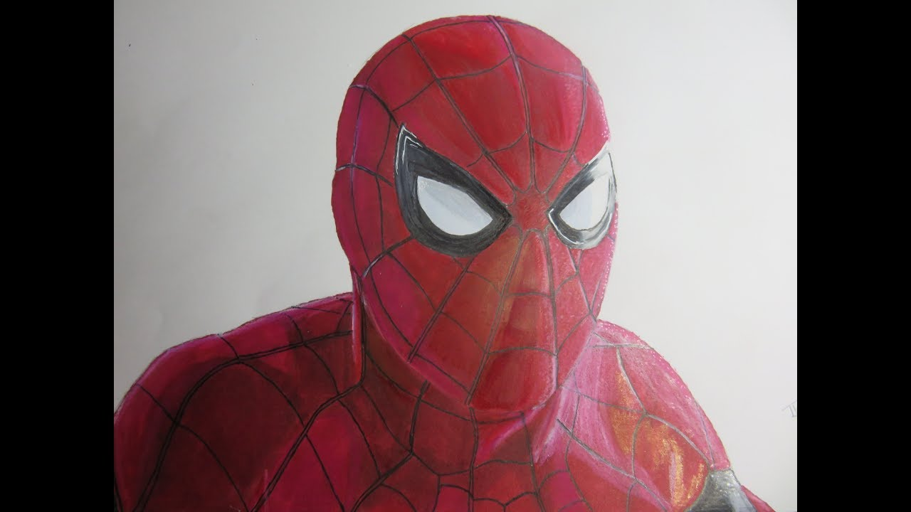 Speed Drawing Spider Man Homecoming Youtube