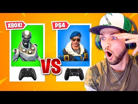 Fortnite PS4 Vs XBOX Players - WHO'S BETTER?