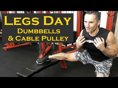 Dumbbell Workout Legs with Cable Pulley
