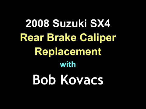 2008 Suzuki SX4 Rear Brake Caliper Replacement