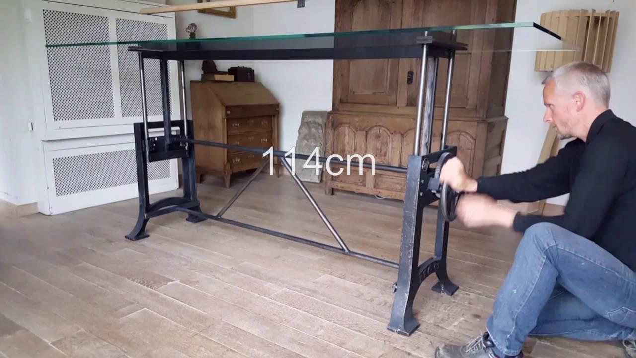 Dt12 adjustable height crank table hoogte verstelbare tafel