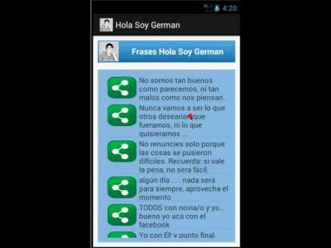 App Android Frases Hola Soy German Youtube