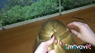 Изнаночная коса из трех прядей.Плетение кос.Изнаночная косичка
