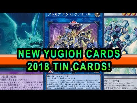 NEW YUGIOH CARDS 2018 TIN CARDS! REVEALED NEW LINKS NEW SYNCHRO NEW FUSION