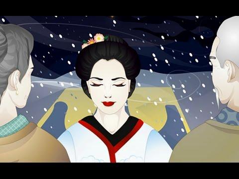 Мультфильм японская народная сказка журавлиные перья