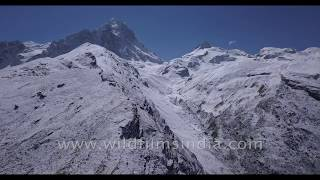 Shrikanta is a beautiful peak in Garhwal Himalaya: see a unique aerial view