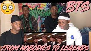 BTS // FROM NOBODIES TO LEGENDS 2013- DEC 2017 - REACTION