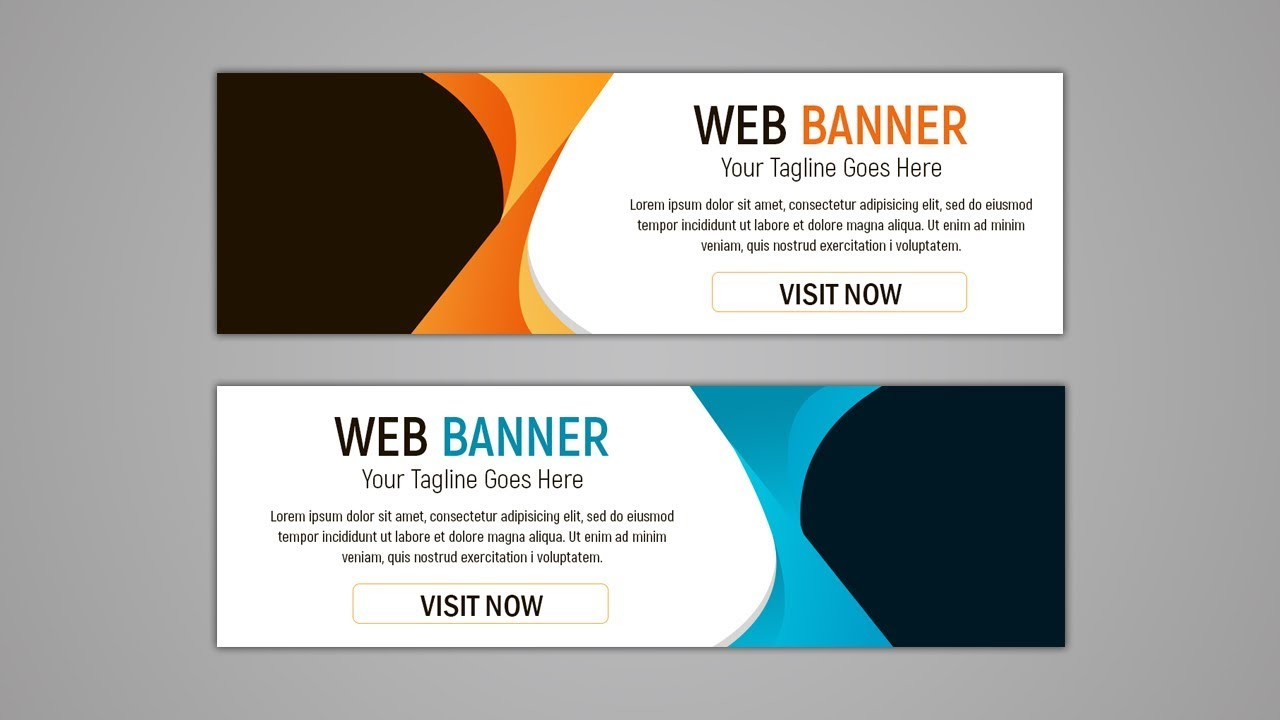 how to create a banner ad in photoshop