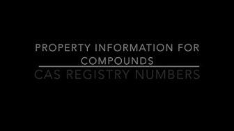 CAS Registry Number Tutorial