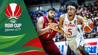 Philippines v Qatar - Highlights - FIBA Asia Cup 2017