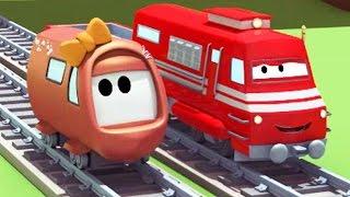 Поезд Трой и Происшествие с малышами в Автомобильный Город  Мультфильм для детей